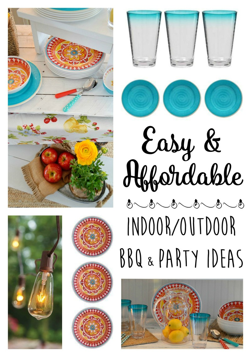 Colorful Fun Indoor Outdoor BBQ Party Entertaining Ideas
