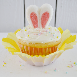Truffle Filled Easter Bunny Ear Cupcakes