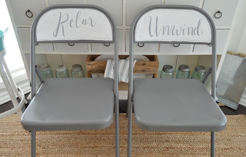 Chalk and Spray Paint Chair Makeover