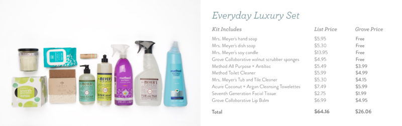 Everyday Luxury Set FREE Mrs Meyers cleaning products