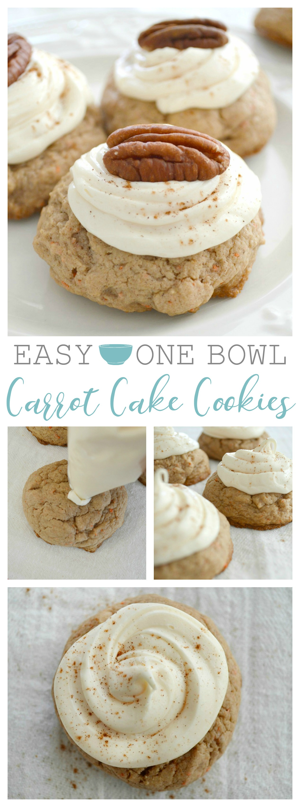 Easy One Bowl Carrot Cake Cookies