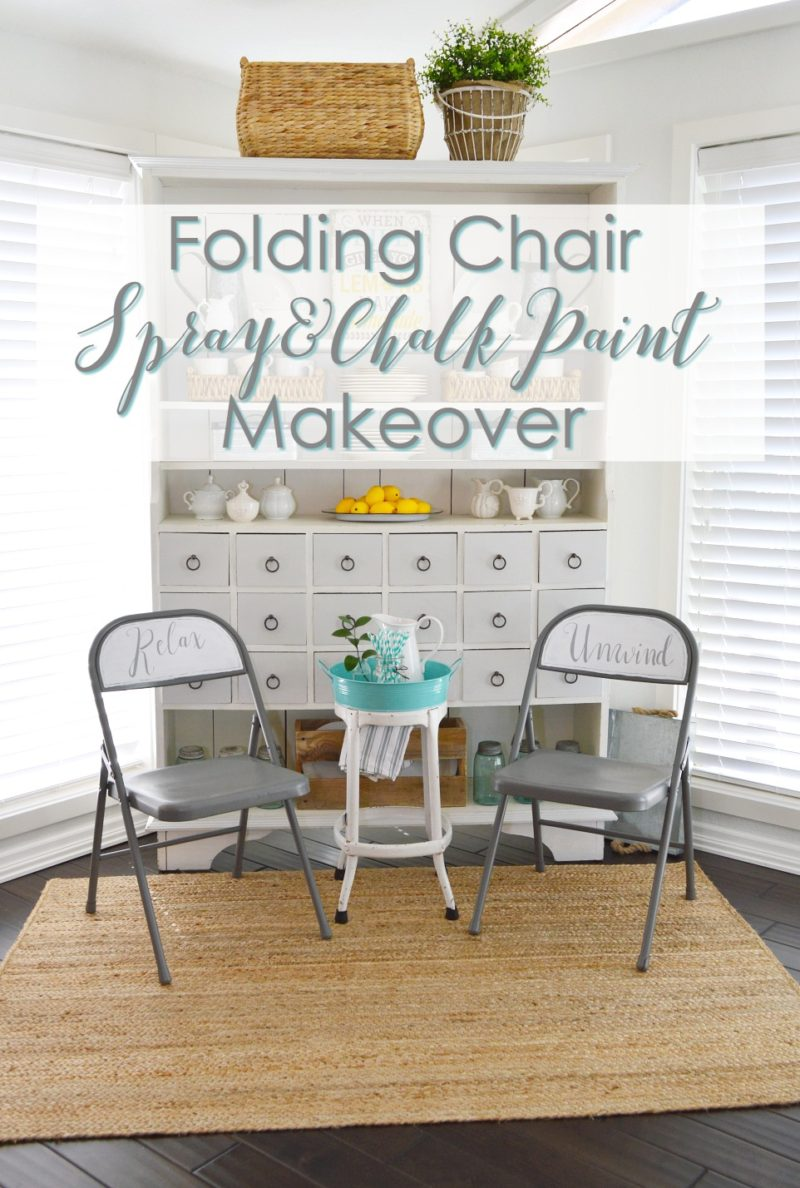 Folding Chair - foxhollowcottage.com - Spray and Chalk Paint Makeover