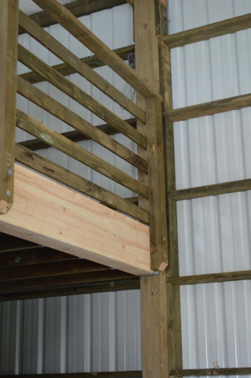 Fox Hollow Cottage Workshop - Metal Pole Building - Beam Supports