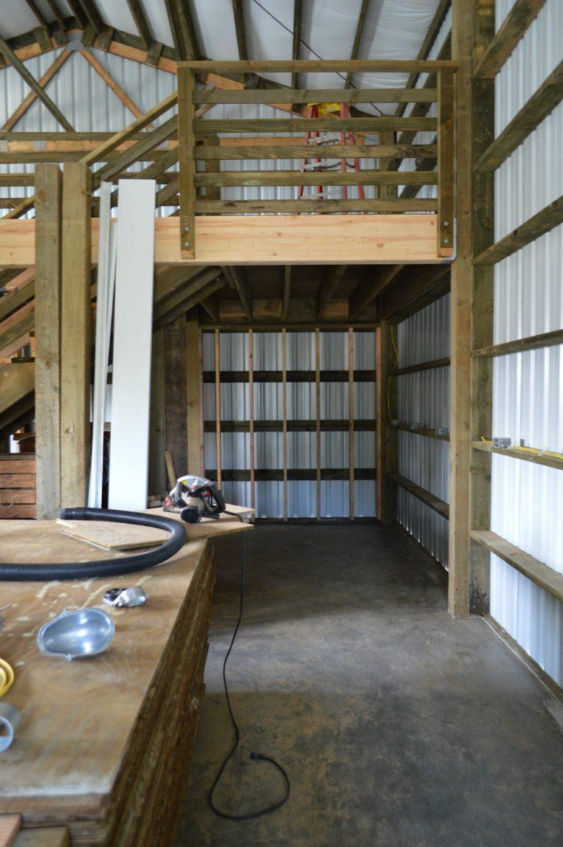 Fox Hollow Cottage Workshop - Metal Pole Building - Future Painting Area