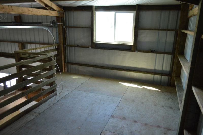 Fox Hollow Cottage Workshop - Metal Pole Building - In The Loft, This Will Be Future Project Storage Space