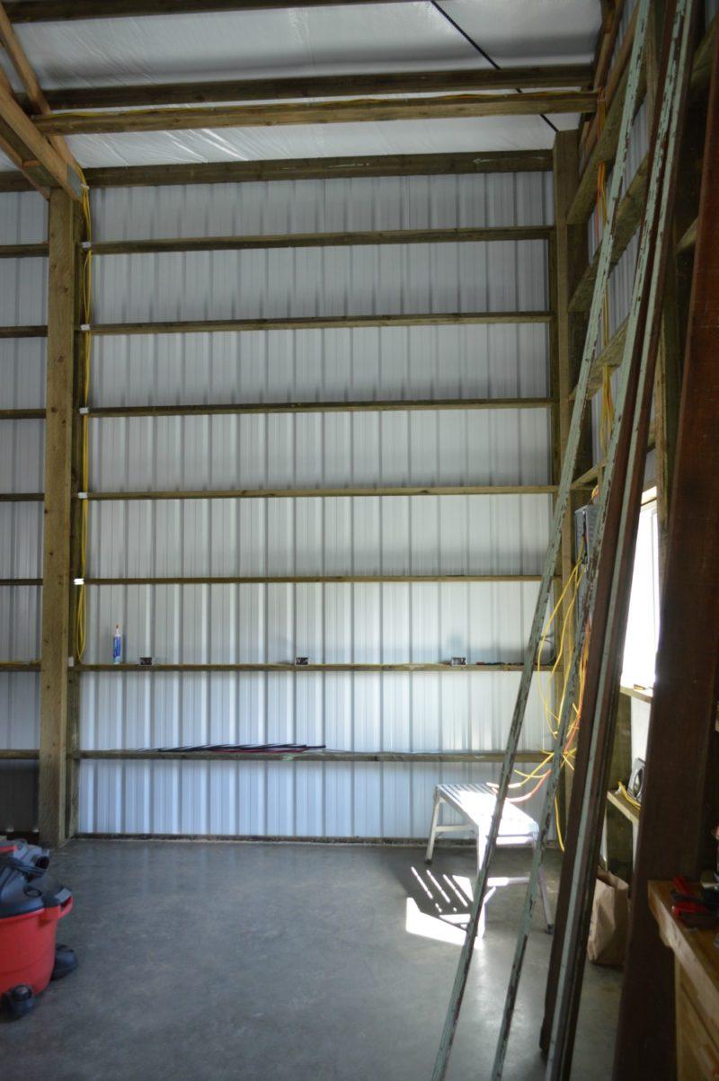 Fox Hollow Cottage Workshop - Metal Pole Building Interior 3