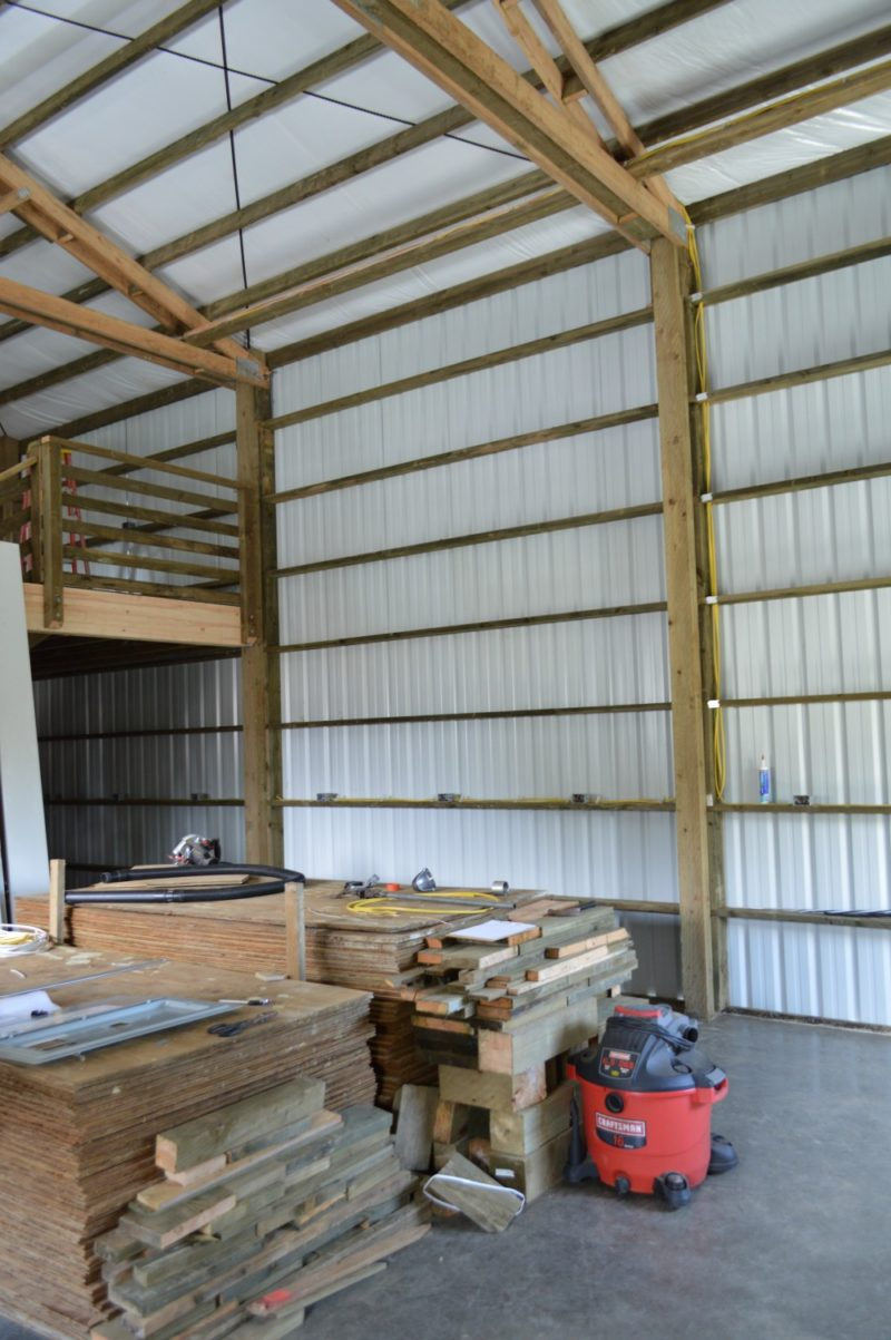 Fox Hollow Cottage Workshop - Metal Pole Building Interior 4