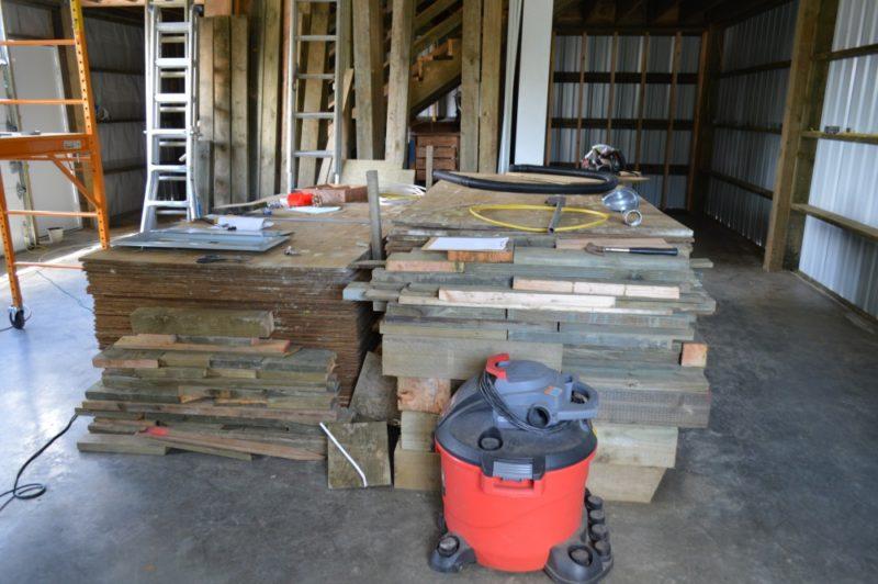 Fox Hollow Cottage Workshop - Metal Pole Building Interior, Future Walls