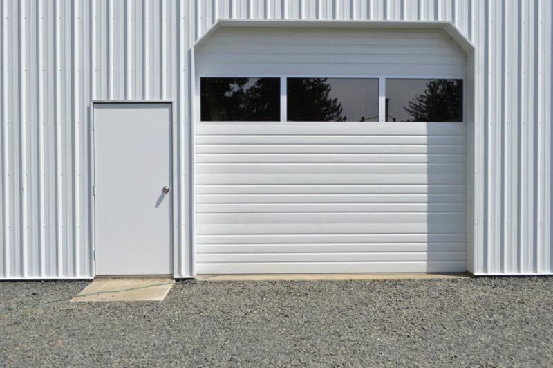 Fox Hollow Cottage Workshop - Metal Pole Building - Roll Up and Man Door. & Fox Hollow Workshop Progress Update Two