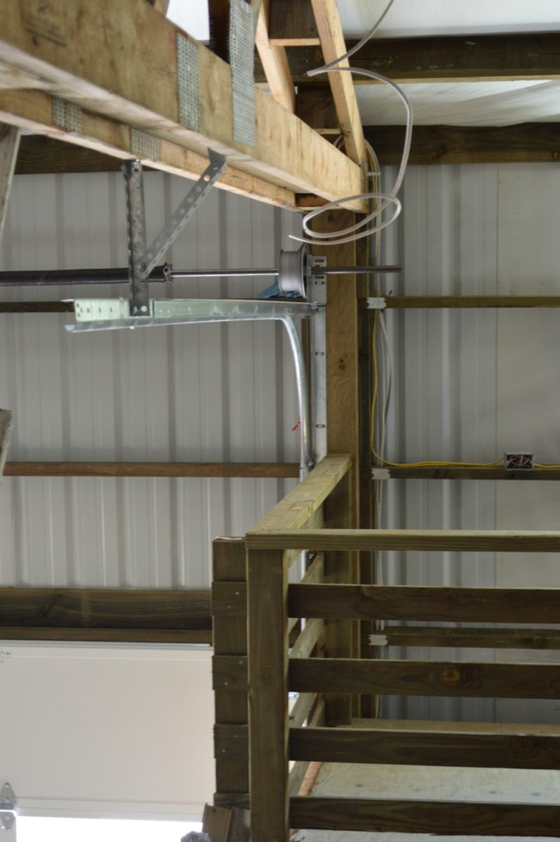 Fox Hollow Cottage Workshop - Metal Pole Building - The Loft, And Rolling Door Hardware Placement