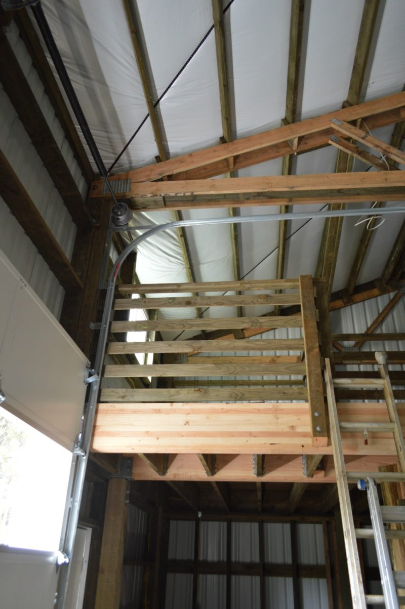 Fox Hollow Cottage Workshop - Metal Pole Building - The Loft, Rolling Door Hardware.