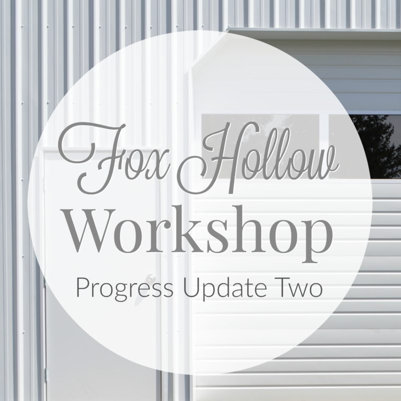 Fox Hollow Cottage progress update two