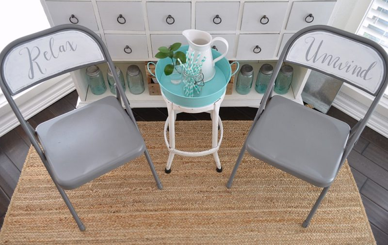 Relax and Unwind Folding Chair Makeover foxhollowcottage.com - Thrifty Under 50