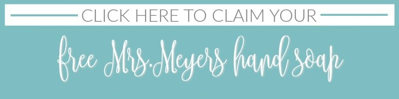 free Mrs Meyers hand soap offer foxhollowcottage.com