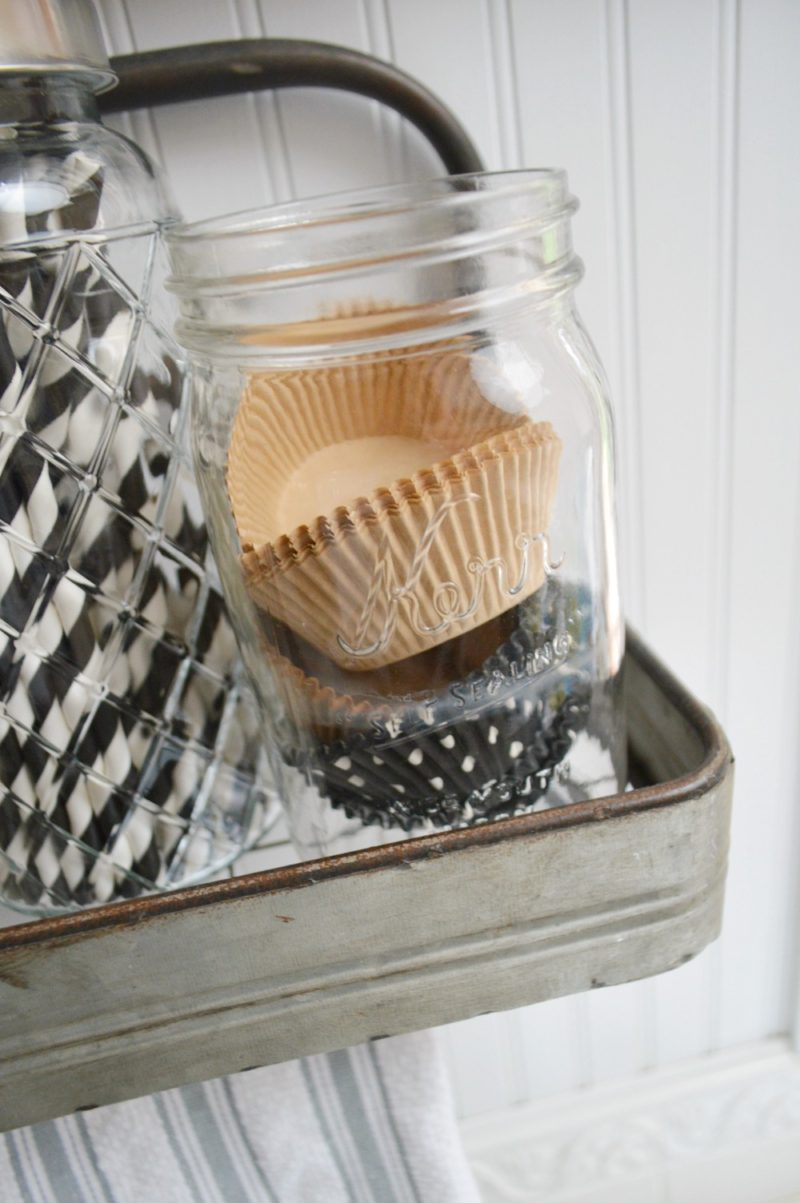 Ball Mason Jar Cupcake Liner Holder - foxhollowcottage.com Kitchen Decor