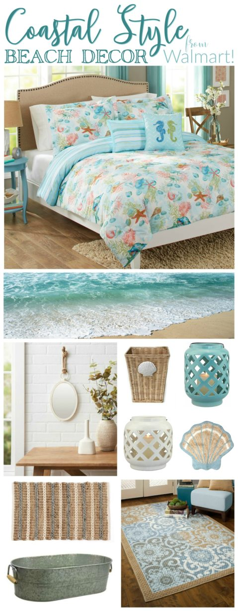 Coastal style beach decor from walmart fox hollow cottage for Bhg shopping