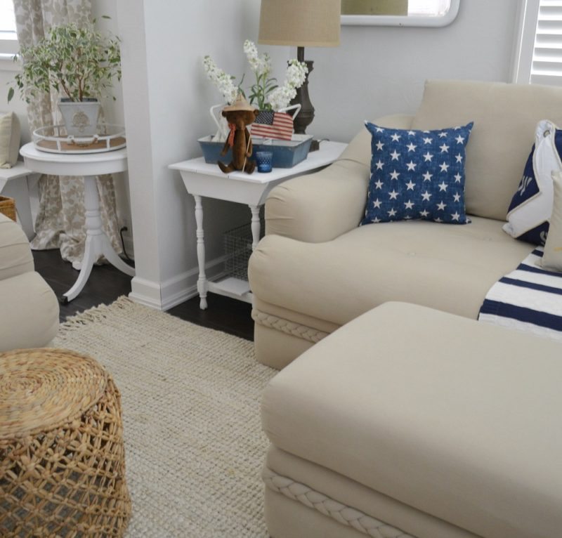 Simple Navy & Nautical Home Decor Accents for Sumemr - Fox Hollow Cottage