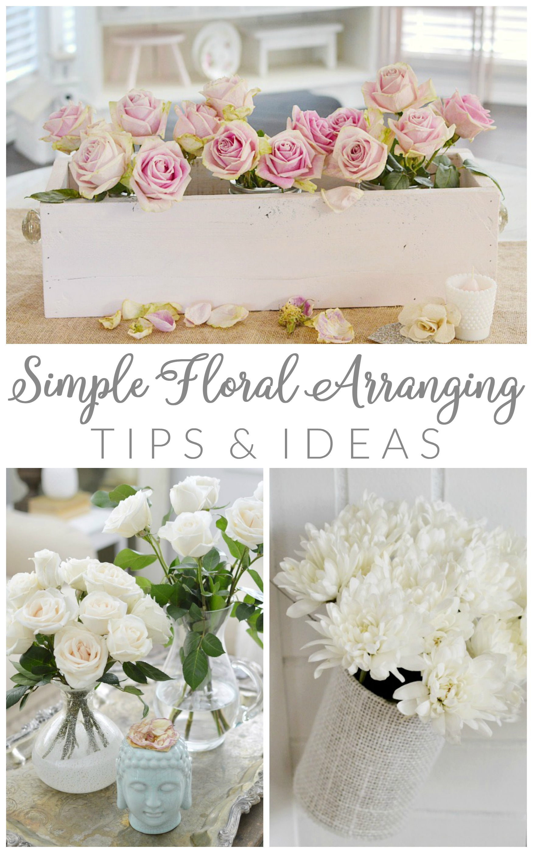 Simple floral arranging tips and ideas - foxhollowcottage.com - Easy, how to tutorials