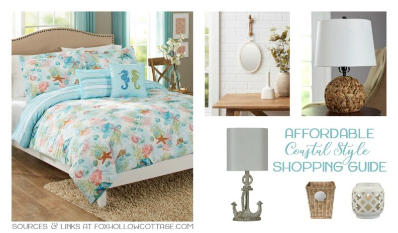 affordable coastal style home decor shopping guide