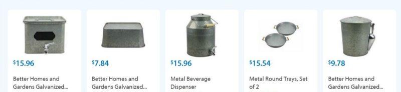 bhg galvanized metal collection