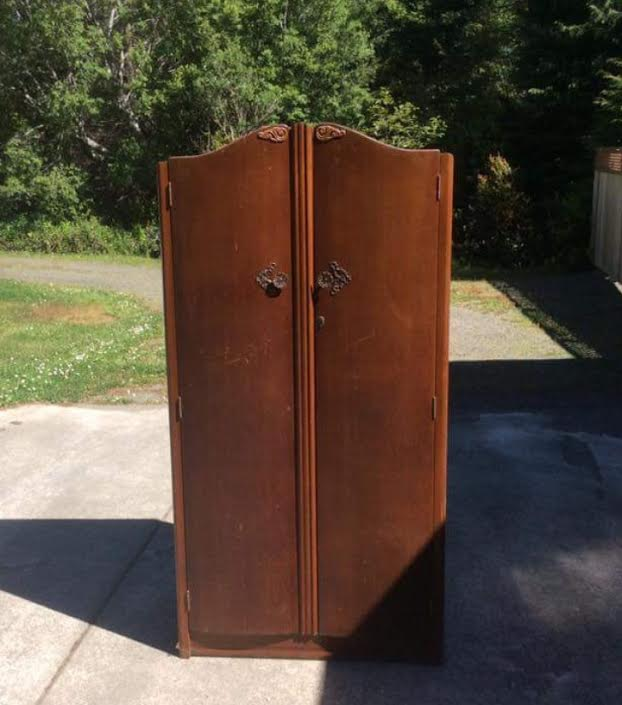 foxhollowcottage.com Vintage Antique Armoire Closet Wardrobe