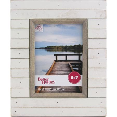 Better Homes and Gardens Oracoke 5x7 Soft White Picture Frame
