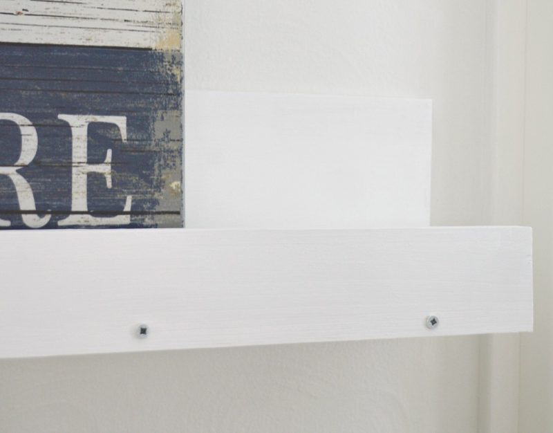 DIY art shelf - picture ledge shelves