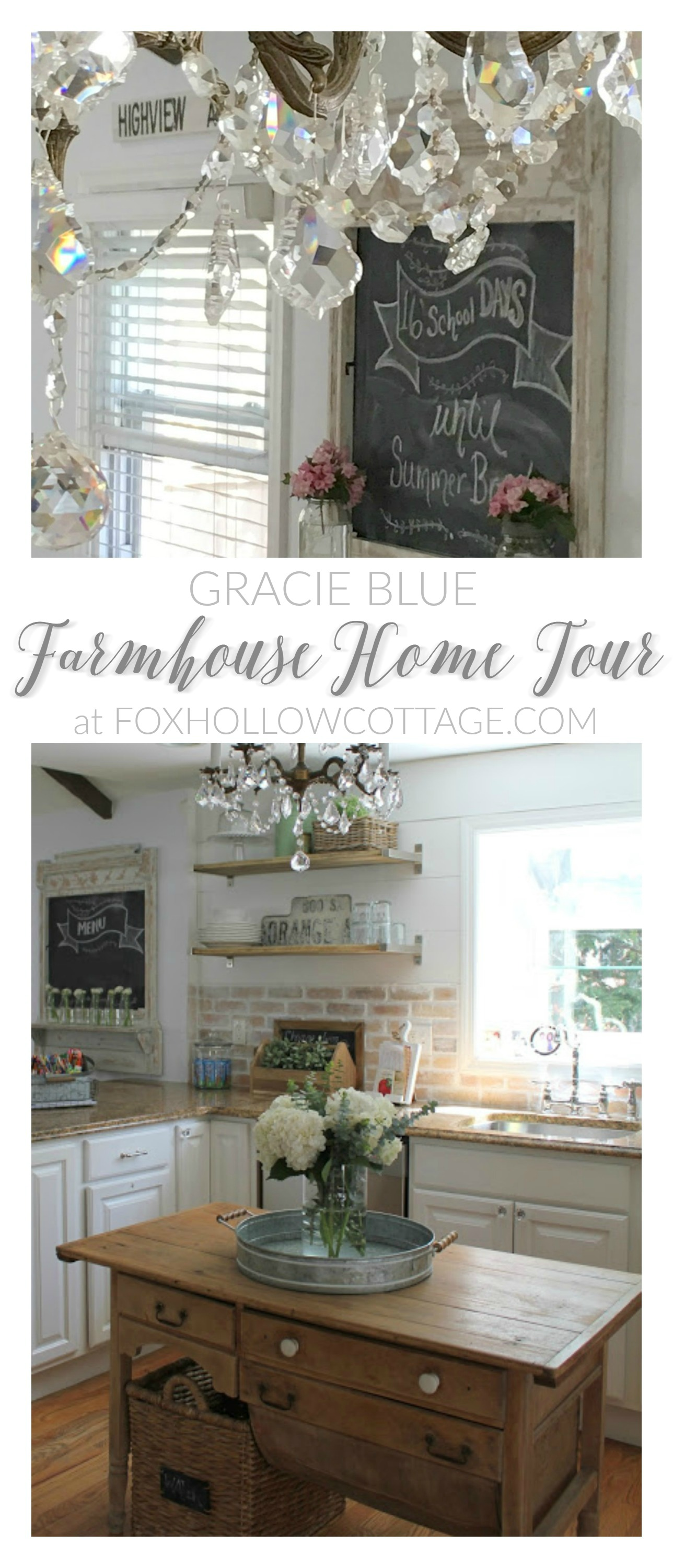 Gracie Blue Farmhouse Home Tour at foxhollowcottage.com .