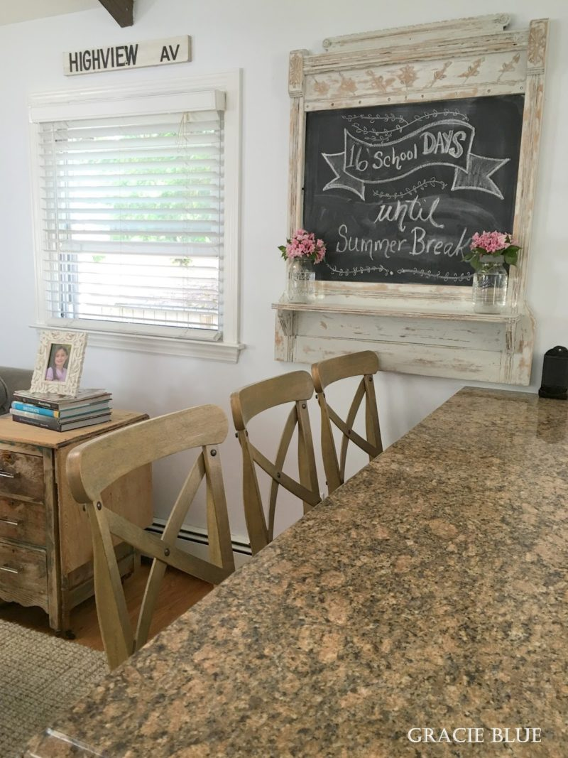 Gracie Blue Home Tour - Antique chalkboard art for Summer