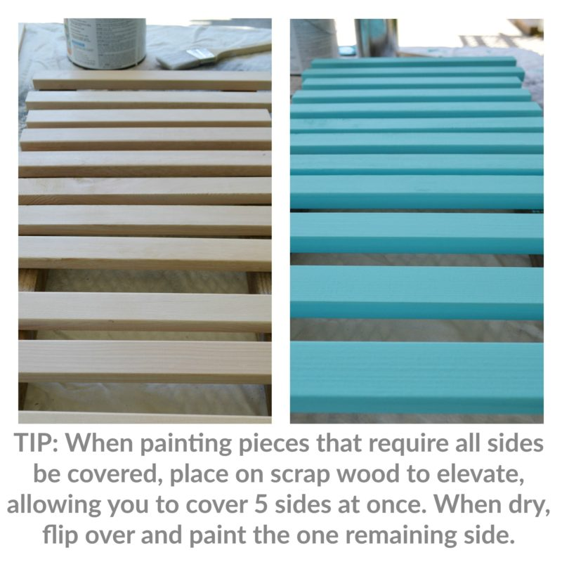 TIP - How to paint something easily when every sides needs to be covered with paint. Build A Beverage Station with foxhollowcottage.com and The Home Depot, supplies - #DIHworkshop #sponsored