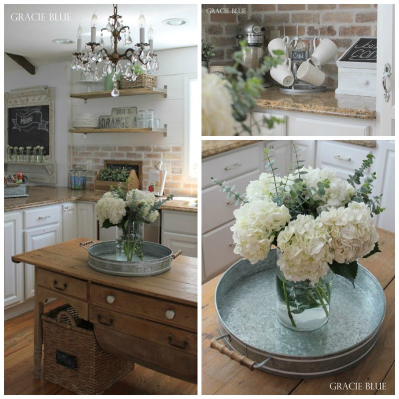 White Farmhouse Kitchen Home Tour at Gracie Blue