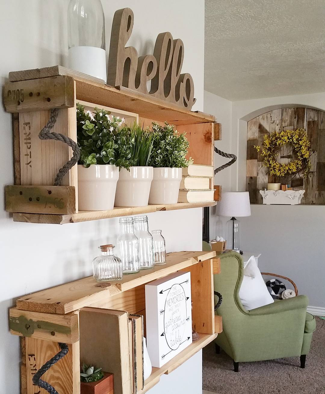 31 Rustic Diy Home Decor Projects: Cottage Farmhouse Features From #foxhollowfridayfavs
