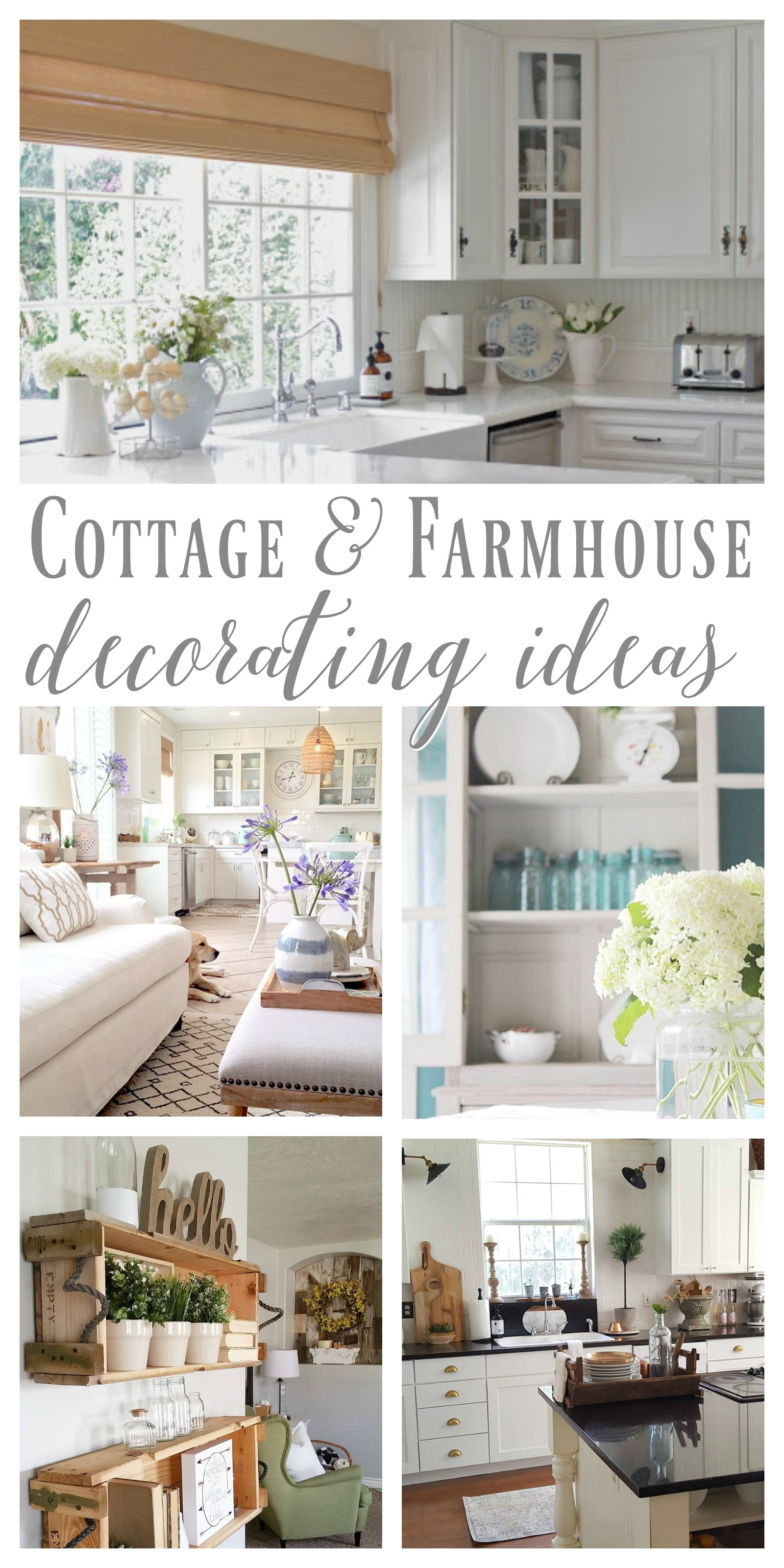 Cottage farmhouse features from foxhollowfridayfavs Cottage decorating
