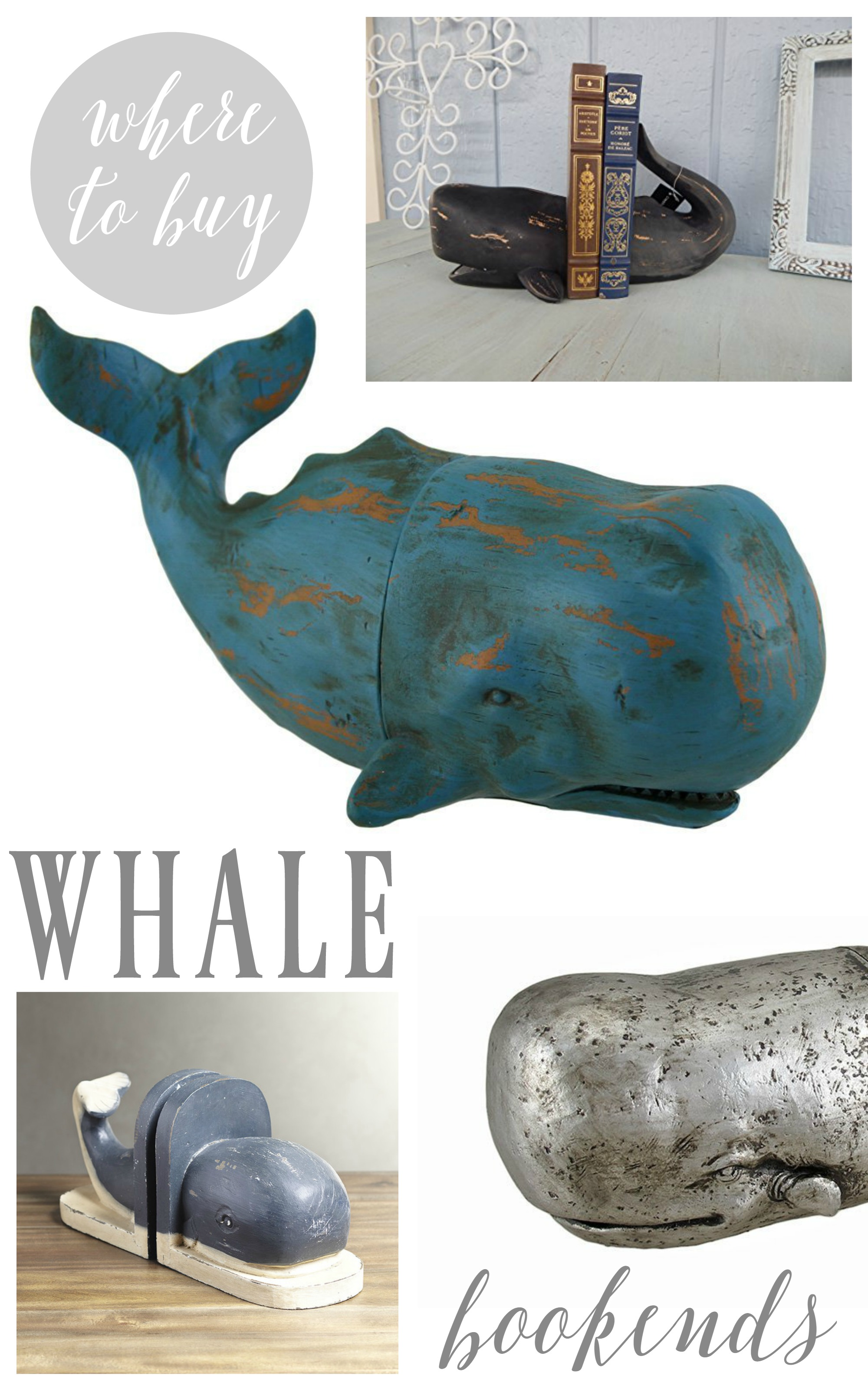 where to buy whale bookends