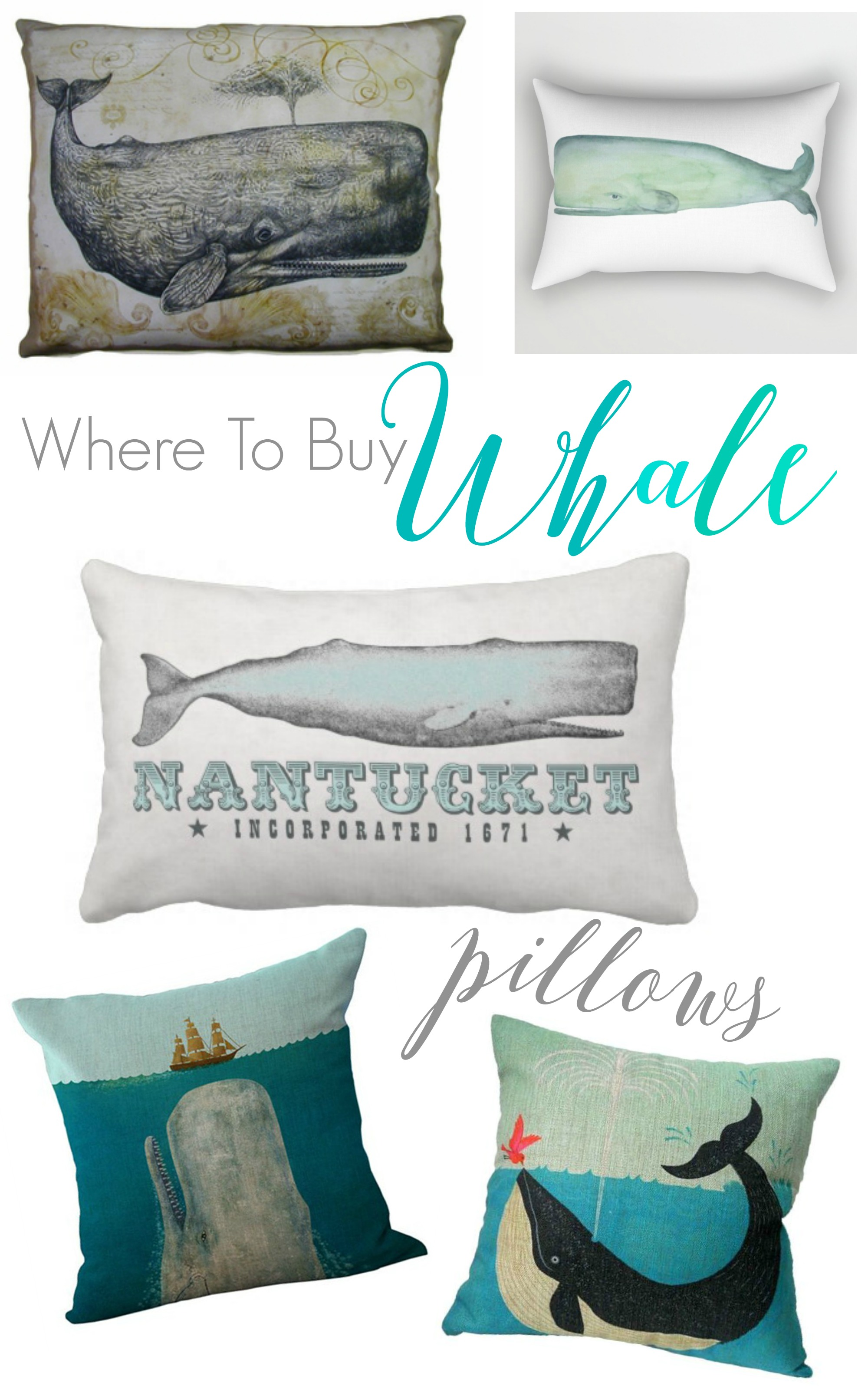 where to buy whale pillows