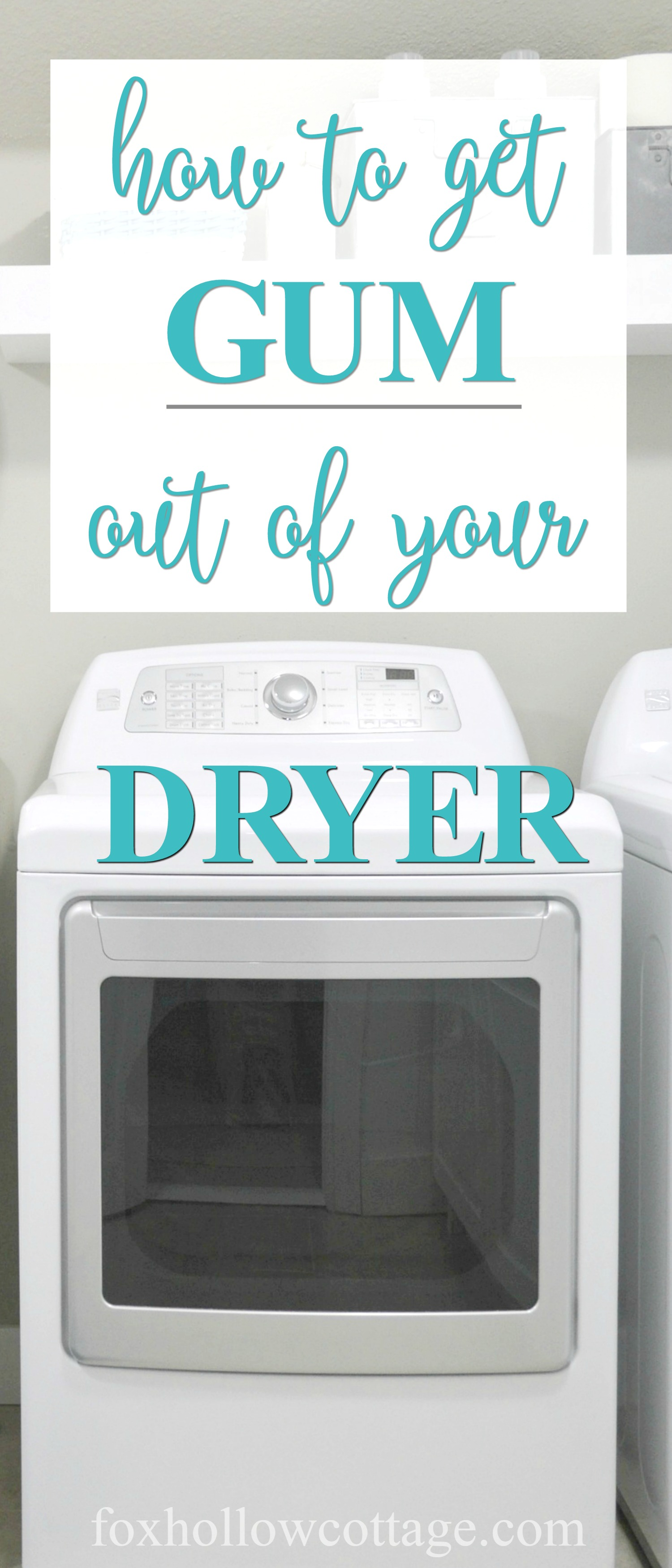 How To Clean Gum From A Dryer | www.foxhollowcottage.com - how to remove and clean dried on gum from your dryer!
