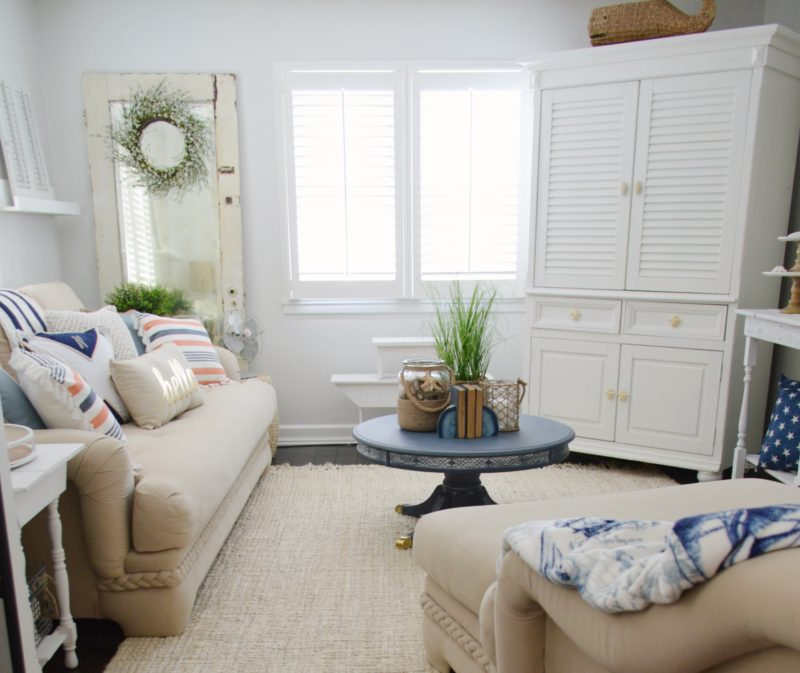 Neutral Navy Living Room Refresh