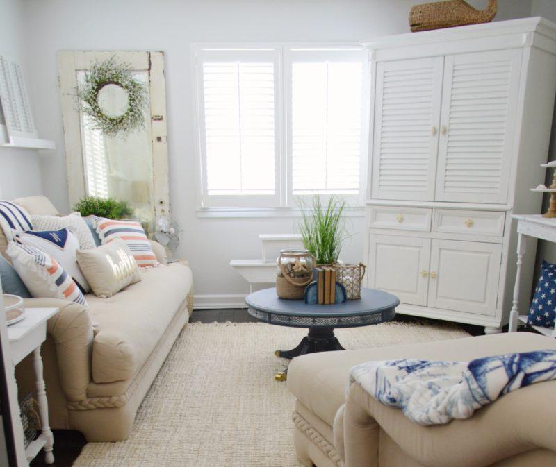Neutral Navy Living Room Refresh