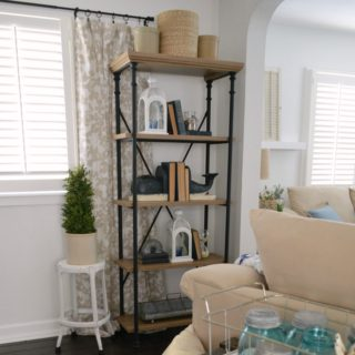 Better Homes and Gardens Farmhouse Style Bookcase Shelf
