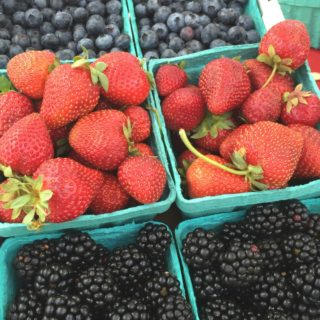 Farmers market blueberry strawberry blackberry