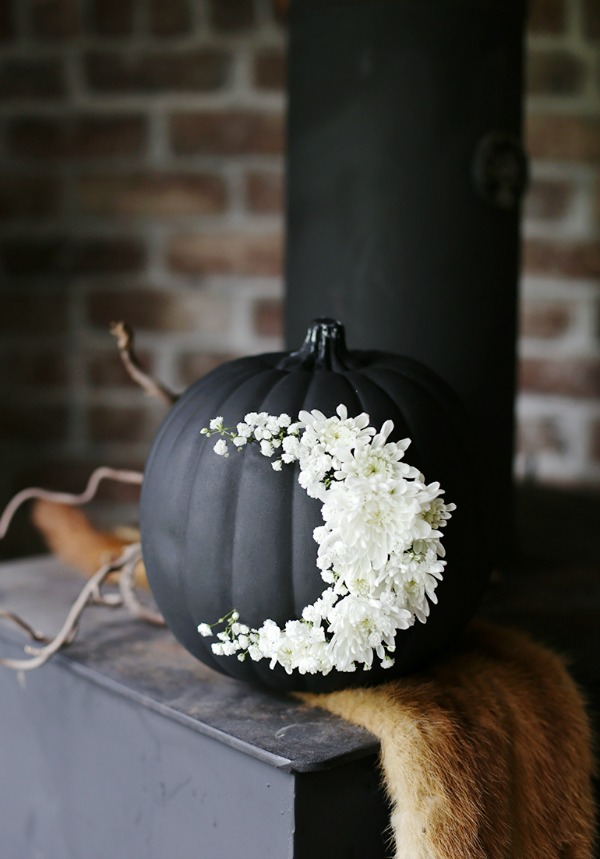 diy-floral-moon-pumpkin, 31 Fabulous Pumpkin Decorating Ideas