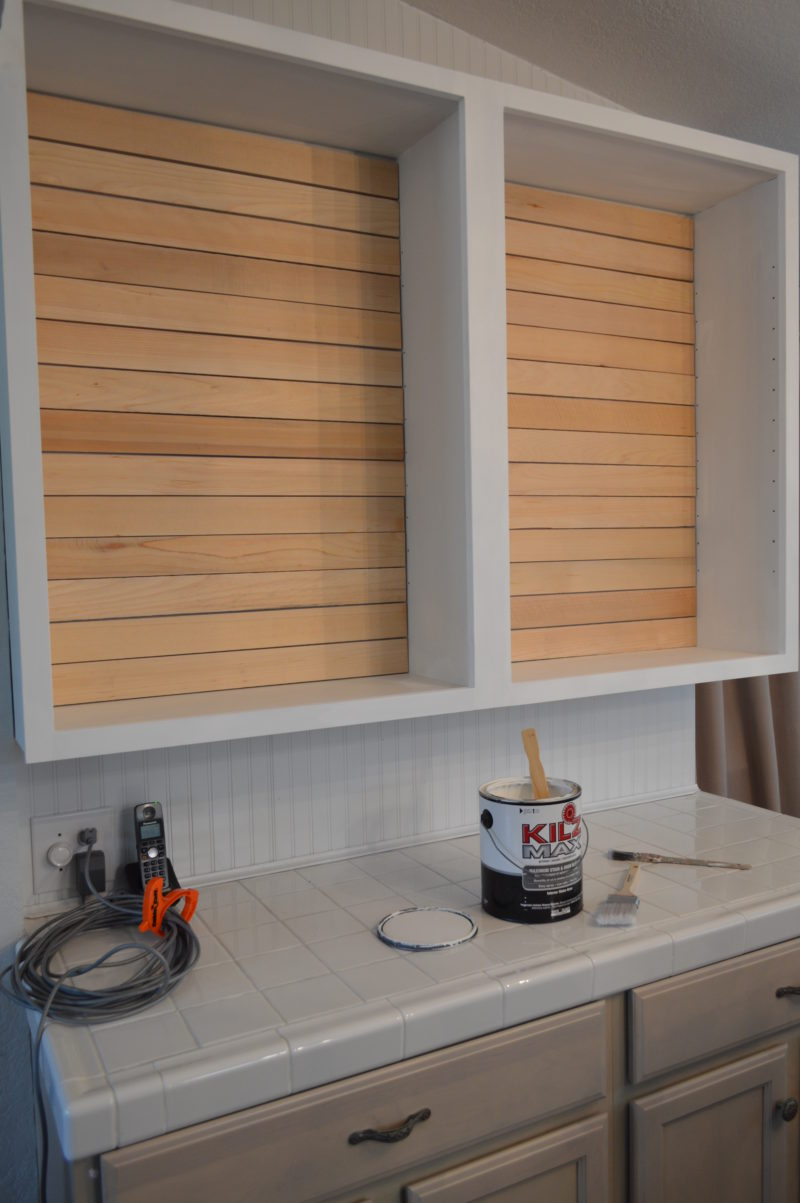 Simple Shiplap: How To DIY a Planked Wall with No Nails by Shannon Fox at foxhollowcottage.com