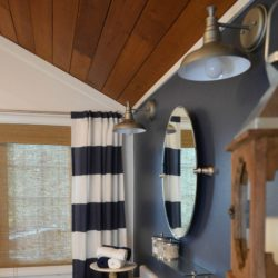 Navy Blue Cottage Bathroom Makeover