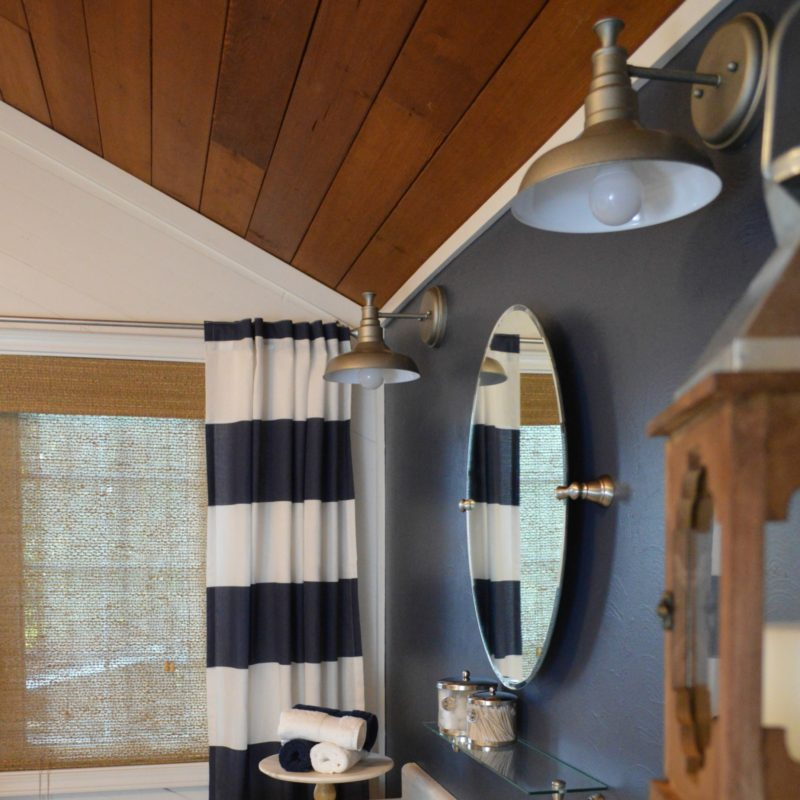 Navy Blue Cottage Bathroom Budget Breakdown and Shopping Sources