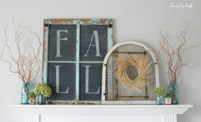 Inexpensive Fall Mantel, Simple Fall Decor Ideas