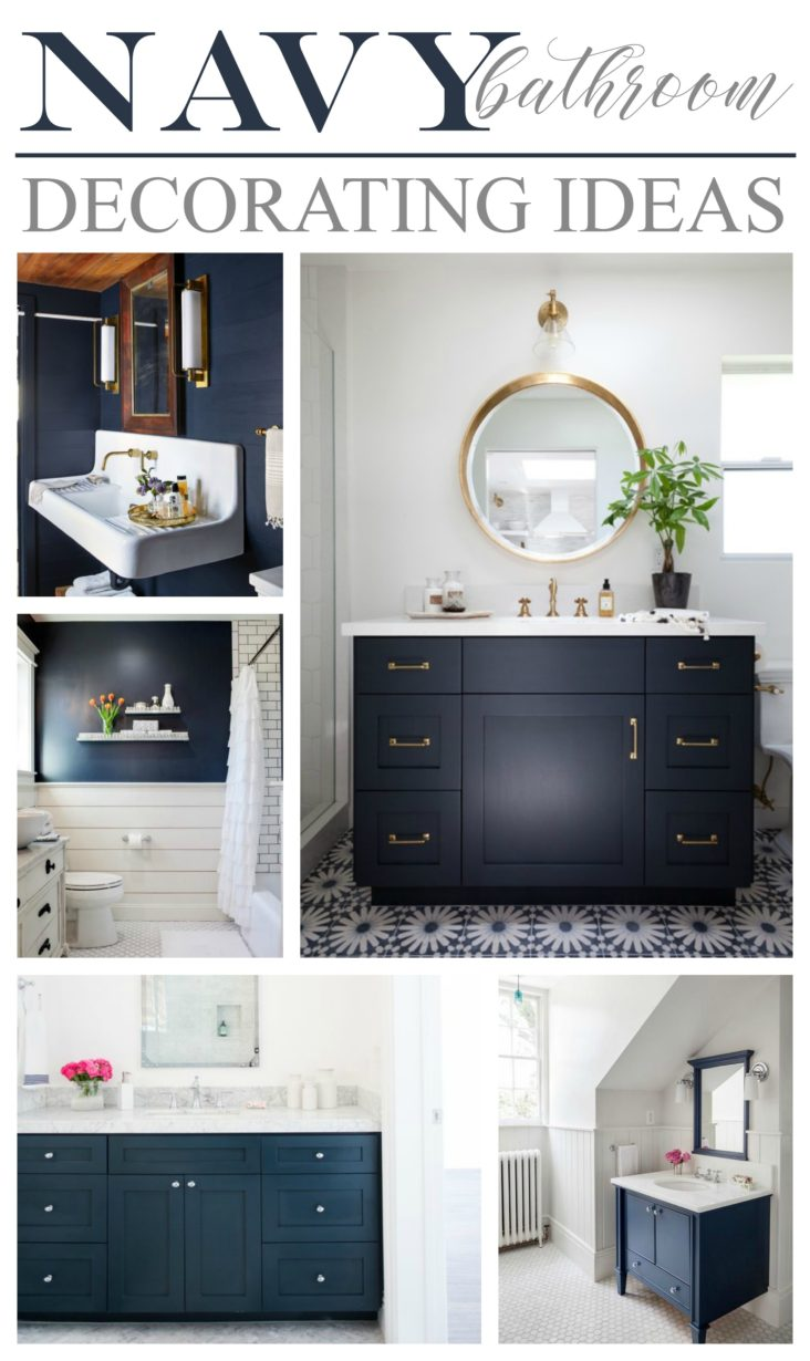 Navy bathroom decorating ideas