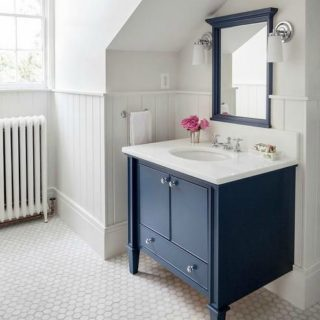 Navy Bathroom Decorating Ideas foxhollowcottge.com -