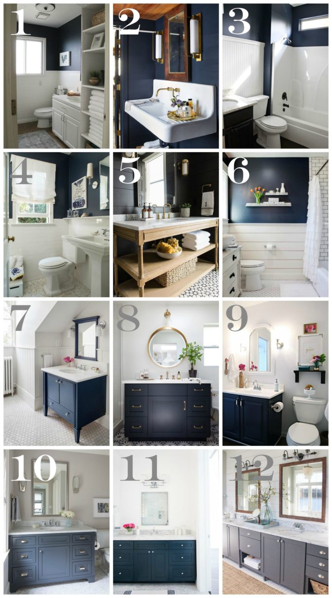 Navy bathroom decorating ideas - Bathroom decorating ideas blue walls ...