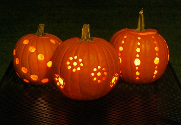 pumpkin-carving-with-a-drill, Pumpkin Lanterns, 31 Fabulous Pumpkin Decorating Ideas