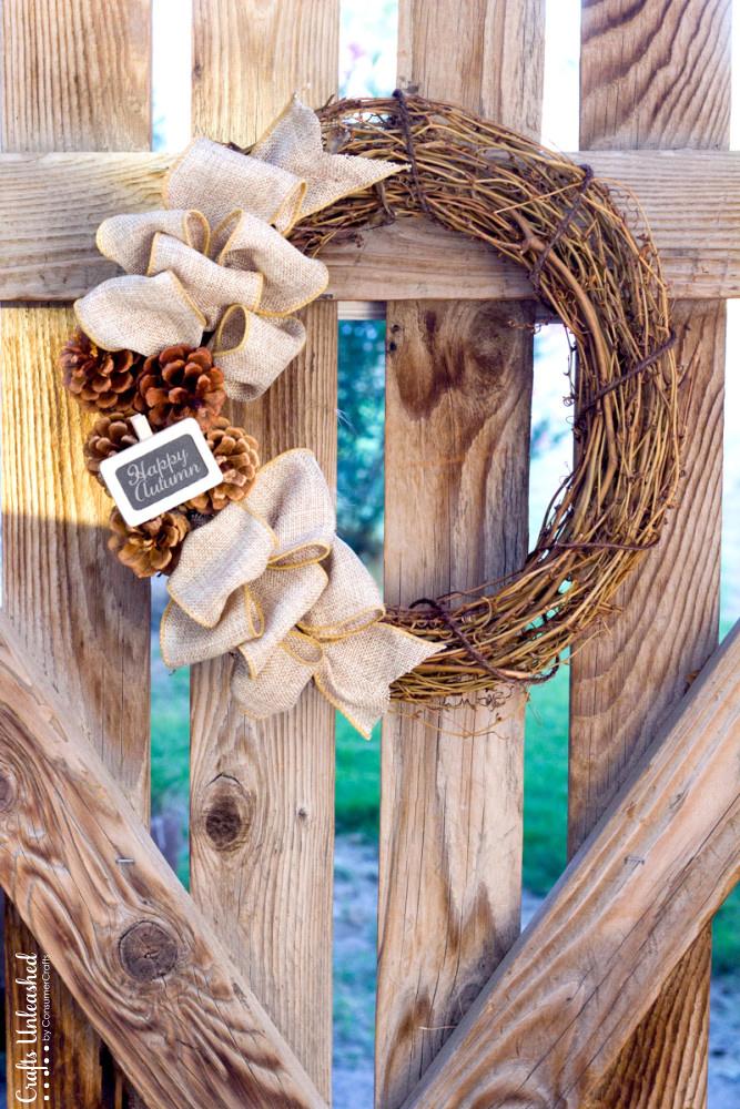 Rustic Fall Wreath, Simple Fall Decor Ideas